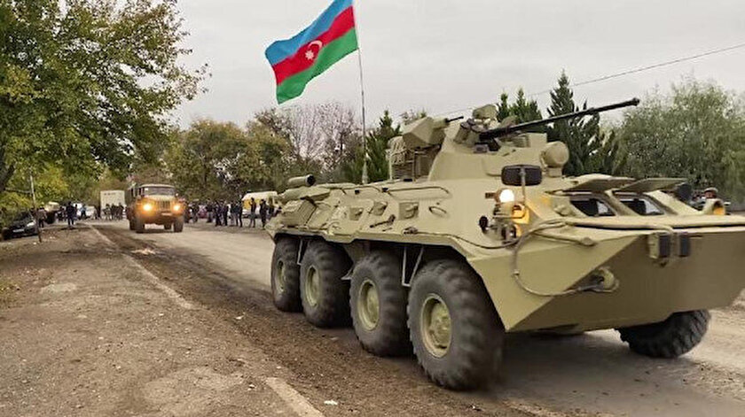 Azerbaycan ordusu Ağdam'a girdi.