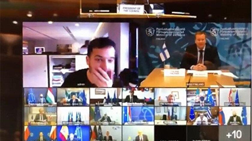 Hollandalı gazeteci, AB Savunma Bakanları Zoom toplantısına sızdı.