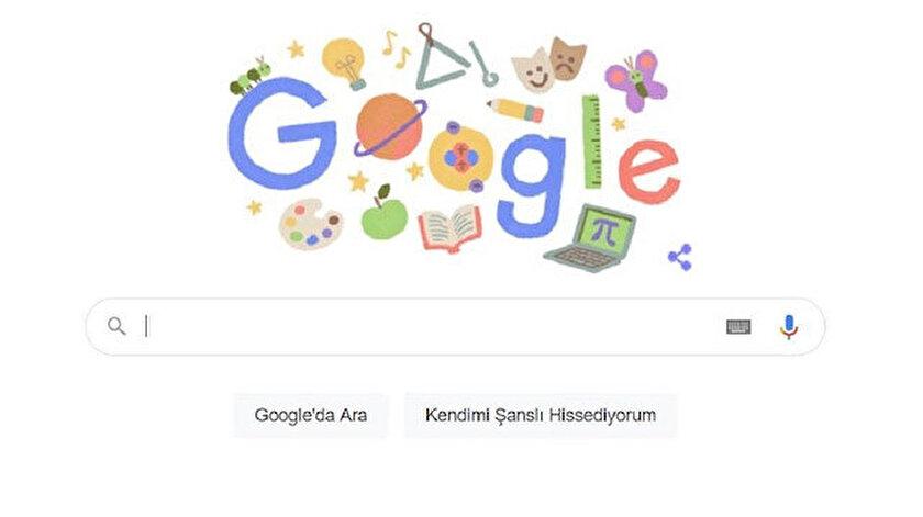 Google tarafından Öğretmenler Günü'ne özel hazırlanan doodle