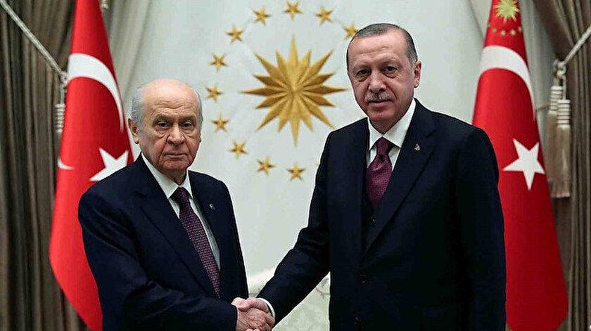 MHP lideri Bahçeli ve Cumhurbaşkanı Erdoğan