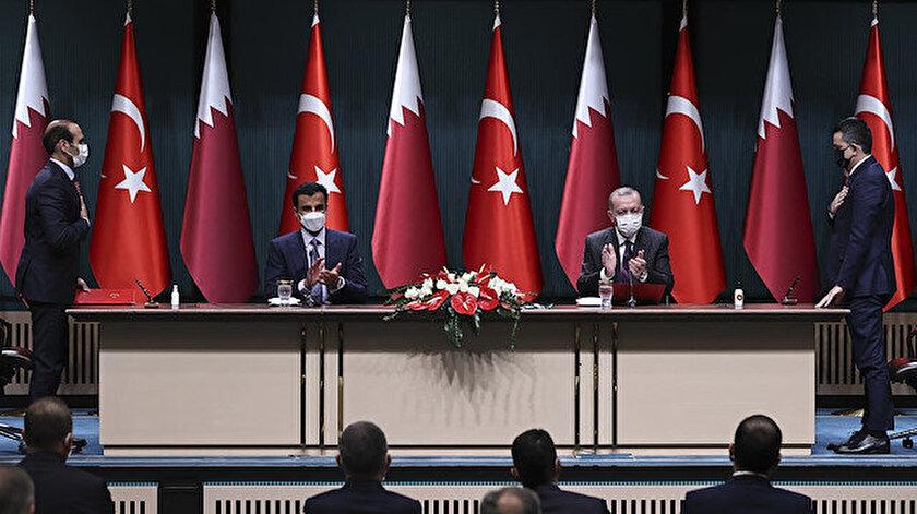 Cumhurbaşkanı Erdoğan ile Katar Emiri Al Saninin görüşmesi: Türkiye - Katar anlaşması