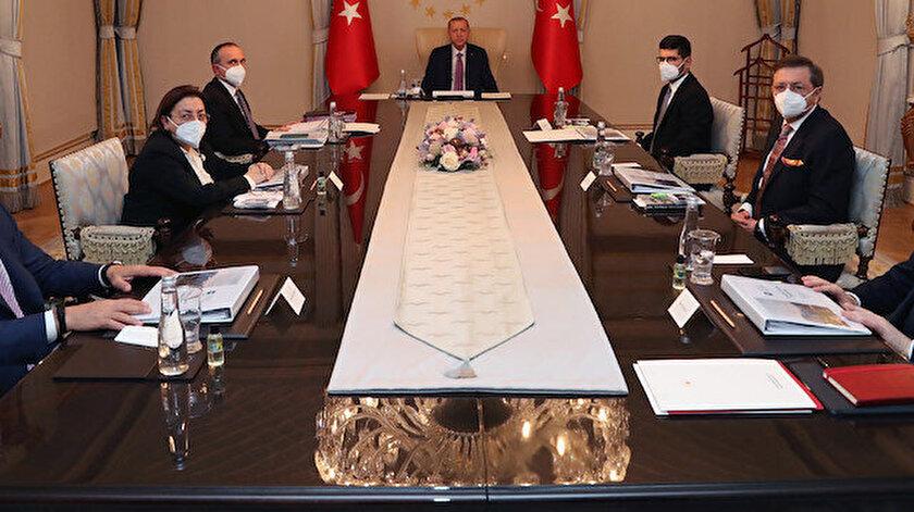 Türkiye Varlık Fonu Yönetim Kurulu, Cumhurbaşkanı Erdoğan'ın başkanlığında bir araya geldi.