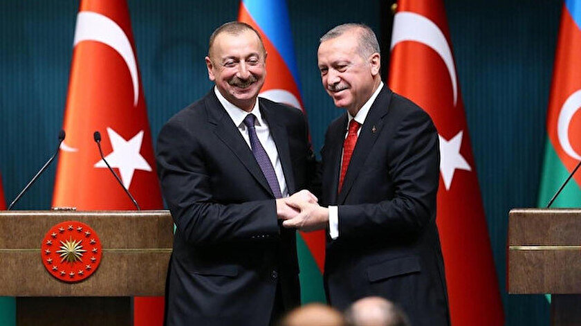 Cumhurbaşkanı Erdoğan ve Aliyev