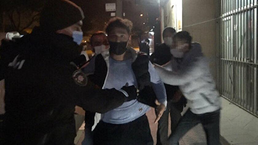 Basın mensubuna saldıran şahıs tutuklandı.