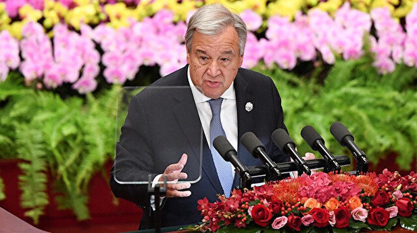 Birleşmiş Milletler Genel Sekreteri Antonio Guterres açıklama yaptı.