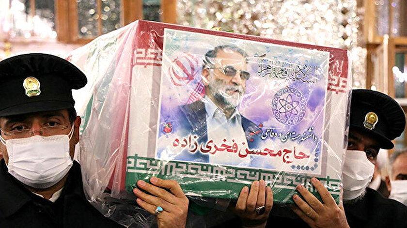 Muhsin Fahrizade için Meşhed ve Kum'da cenaze töreni düzenlendi.