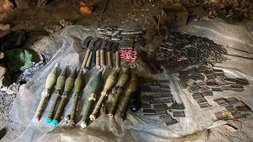 Pençe-Kaplan Operasyonunda terör örgütü PKKya ait mühimmat ele geçirildi