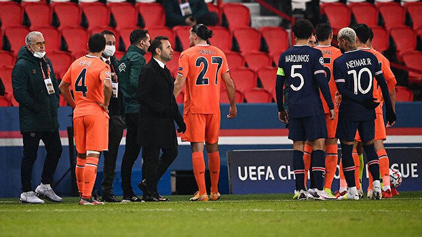 Pariste UEFAnın hakemlerinden skandal: Başakşehir ırkçılığa boyun eğmedi
