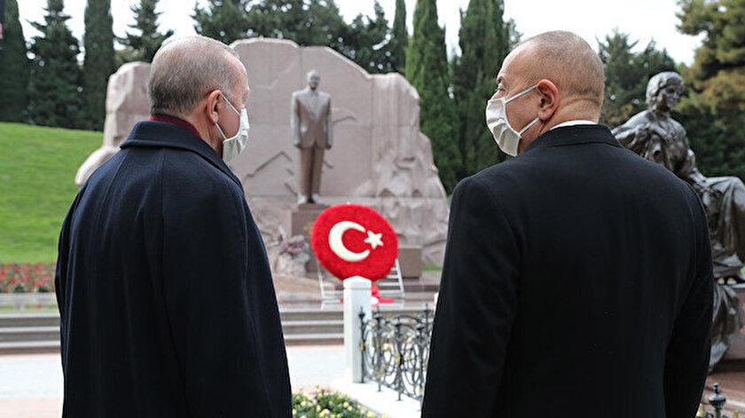 Cumhurbaşkanı Erdoğan Bakü'de: Azerbaycan büyük zaferini kutluyor