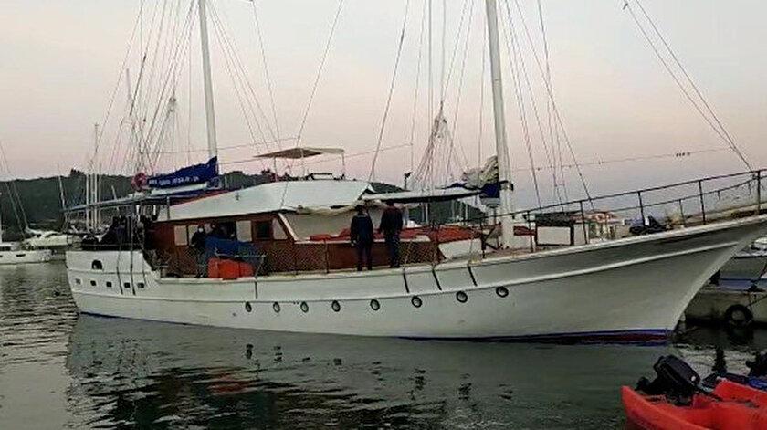 İzmirde tekne içinde 175 kaçak göçmen yakalandı