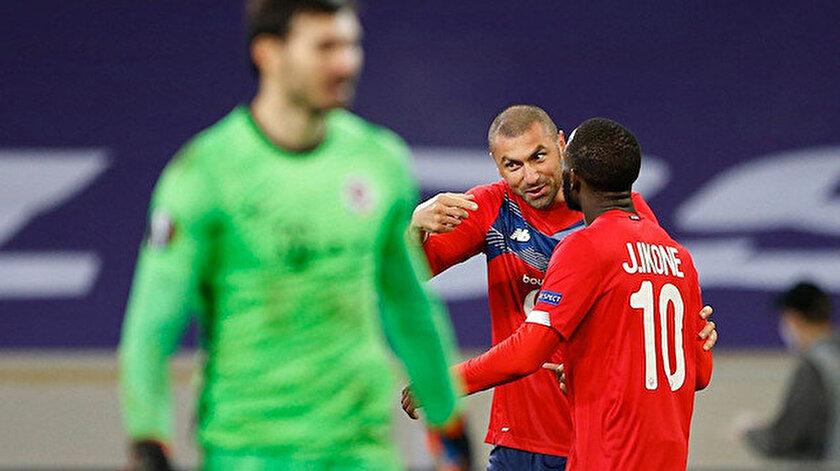 Lille PSG maç özeti: Burak Yılmazın hareketi maça damga vurdu