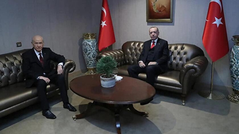 Cumhurbaşkanı Erdoğan ile MHP lideri Devlet Bahçeli bir araya geldi