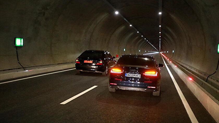 Salarha Tüneli'nin 2 bin 977 metre uzunluğundaki ilk tüpü hizmete açıldı.
