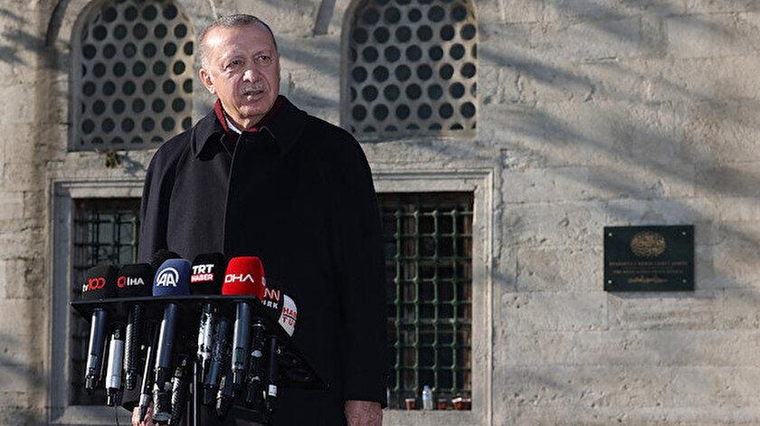 Cumhurbaşkanı Erdoğandan Sözcü Gazetesine tepki: Ayasofya 2020 yılının taçlı yıldızıdır