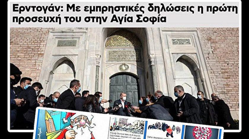 Yunan medyasında Erdoğan'ın sözleri gündem oldu.