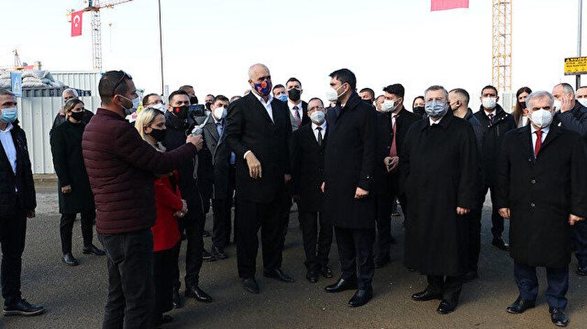 Arnavutluk Başbakanı Edi Rama - Çevre ve Şehircilik Bakanı Murat Kurum - Albayrak Holding Yönetim Kurulu Başkanı Ahmet Albayrak