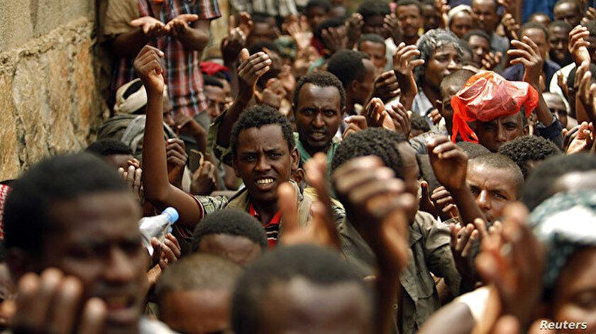 Sudan'a sığınan Etiyopyalı mülteciler, barınma, gıda ve su gibi acil insani yardıma ihtiyaç duyuyor.