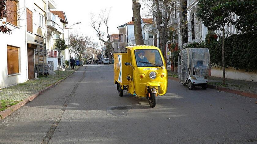 PTT'nin çevre dostu elektrikli araçları İstanbul'un Adalar İlçesinde hizmet verecek