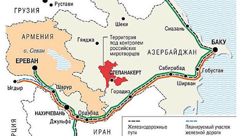 Haritayı Rus medyası yayınladı.