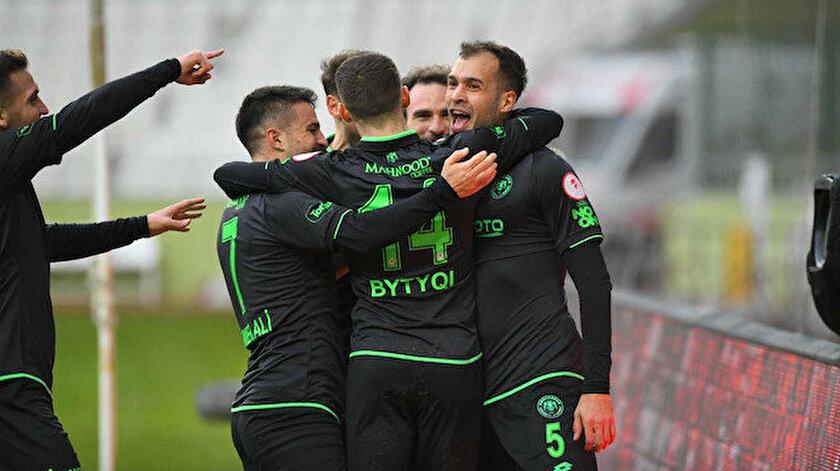 Konyasporlu futbolcuların gol sevinçleri