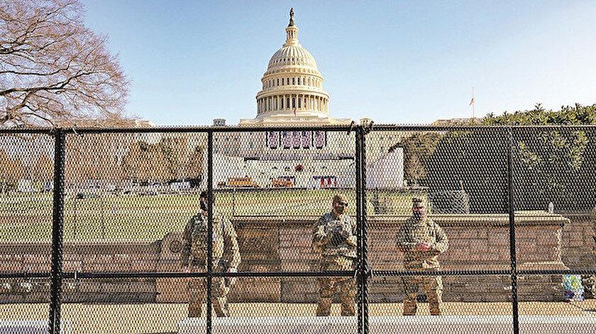 Kongre binasının korunması için de yüzlerce Ulusal Muhafız görevlendirildi.