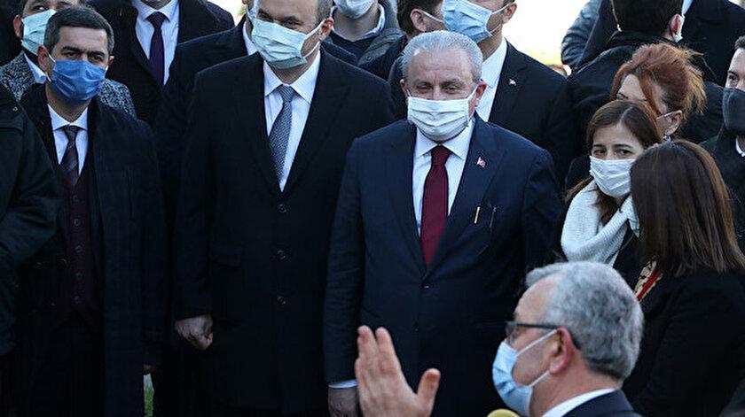 TBMM Başkanı Mustafa Şentop açıklama yaptı.
