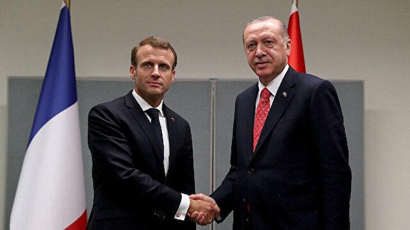 Fransa Cumhurbaşkanı Macron ve Cumhurbaşkanı Erdoğan