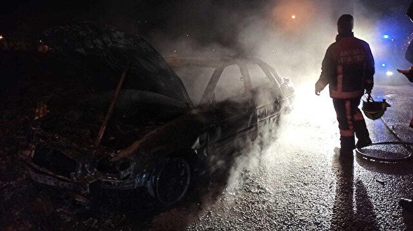 Son dakika Ankara haberleri: Çaldıkları aracı yaktılar