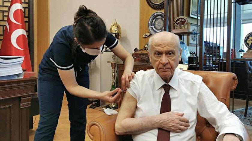 MHP Genel Başkanı Devlet Bahçeli: Covid-19 virüsü aşımı yaptırdım