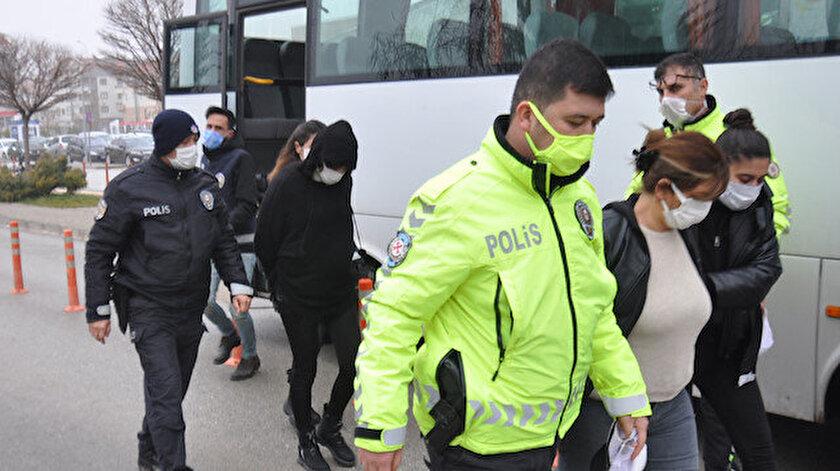 550 polisin katıldığı eş zamanlı suç örgütü operasyonunda 10'u kadın 41 şüpheli gözaltına alındı.