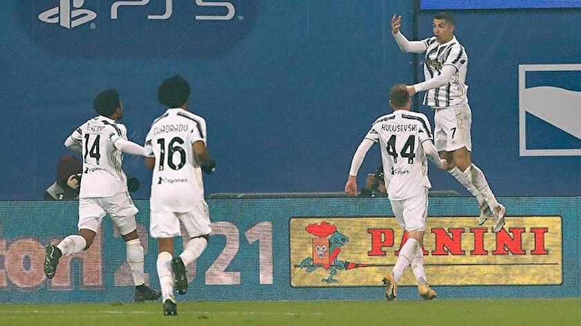 Ronaldo'nun kendine has gol sevinci.