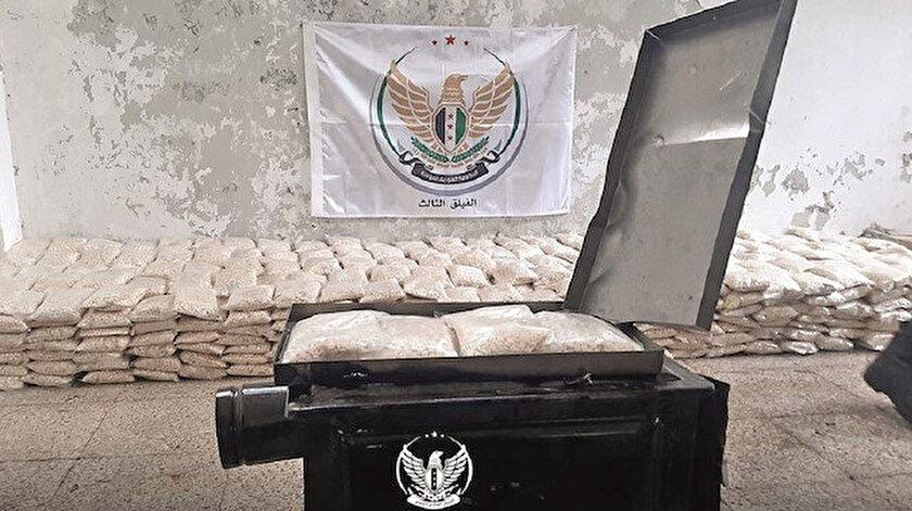 Rejim kontrolündeki bölgelerden gelen  soba yüklü kamyonda 1 milyona yakın uyuşturucu  hap ele geçirildi. el-Hamran'da yakalanan  hapların Hizbullah'a ait olduğu, Türkiye üzerinden  Avrupa'ya gönderilmek istendiği ortaya çıktı.