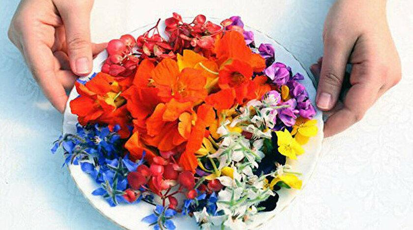 İşte yenilebilir çiçekler.