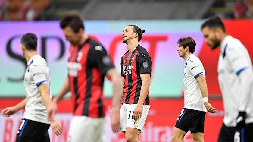 Zlatan Ibrahimovic Atalanta karşısında sessiz kaldı.