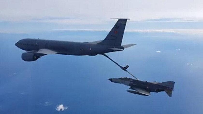 Doğu Akdenizde gövde gösterisi: F-16lar havalandı