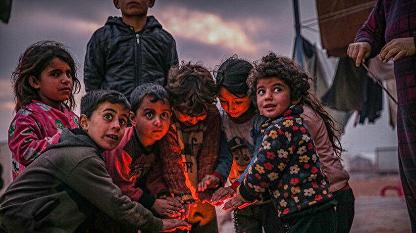 İdlibe 10 tır gıda ve yakacak yardımı gönderildi