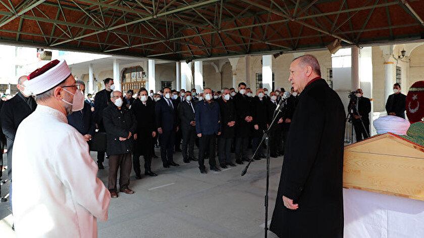 Cumhurbaşkanı Erdoğan Hafız Abdullah Nazırlının cenaze törenine katıldı: Vasiyetini yerine getirdi
