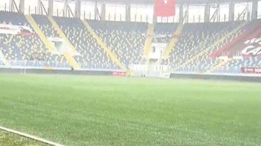 Eryaman Stadyumunda son durum: Maç saati yoğun kar yağışı bekleniyor