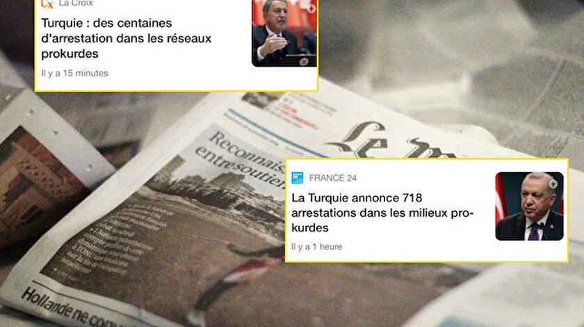 Türk vatandaşlarının katlini görmeyen Fransız medyası terör yuvalarına baskını son dakika olarak duyurdu
