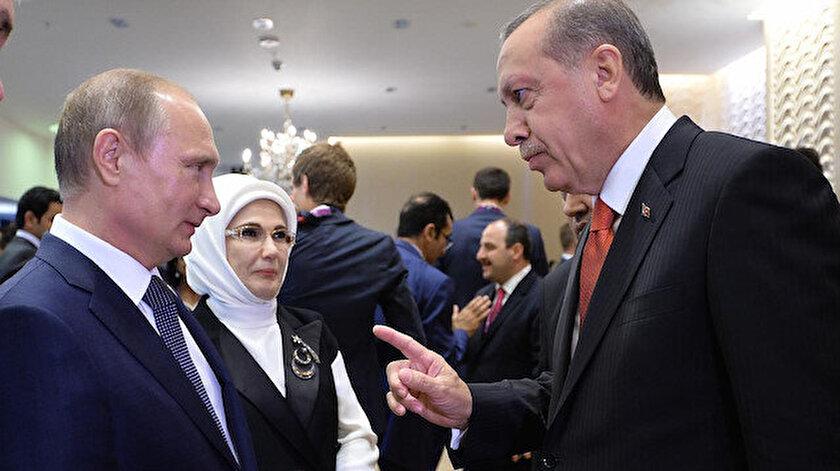 Cumhurbaşkanı Erdoğan Putinle görüştü