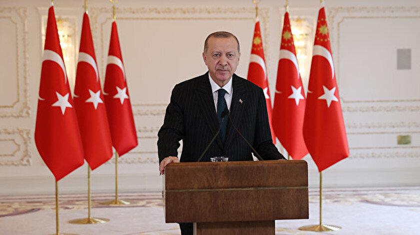 Cumhurbaşkanı Erdoğan: Dağlık Karabağın tekrar ana vatanla kucaklaşmasının sevincini yüreklerimizde hissettik