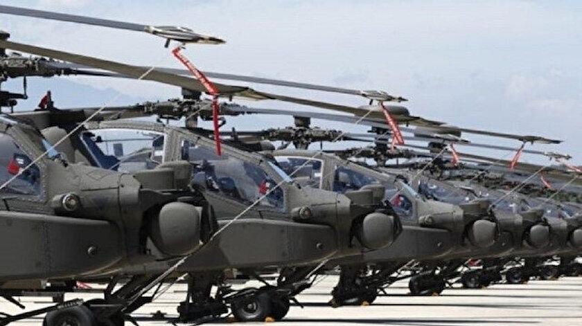 110 adet Black Hawks helikopterleri, 25 adet Apache tipi saldırı helikopteri, 10 adet Chinook ağır nakliye helikopteri bölgeye getirilecek.
