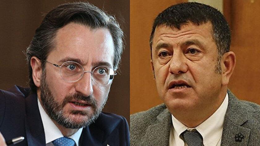 İletişim Başkanı Fahrettin Altun (solda), CHP'li Veli Ağbaba (sağda).