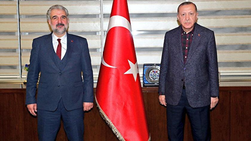 Osman Nuri Kabaktepe ve Cumhurbaşkanı Erdoğan