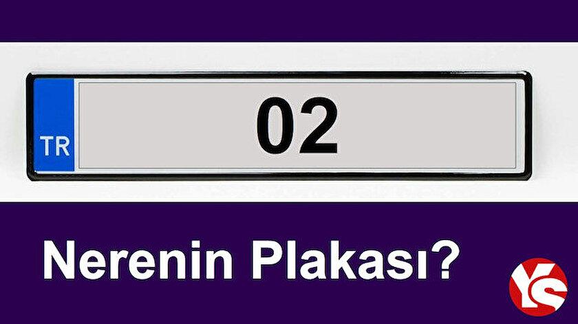 02 plaka kodu - Türkiye plaka kodları