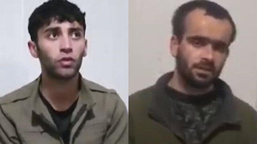 Gara'da yakalanan itirafçı teröristler.