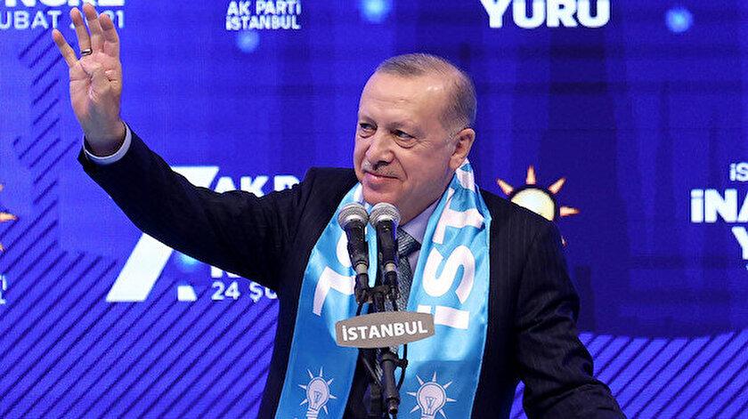 Cumhurbaşkanı Erdoğan: İstanbula hizmet etmek şereflerin en büyüğü