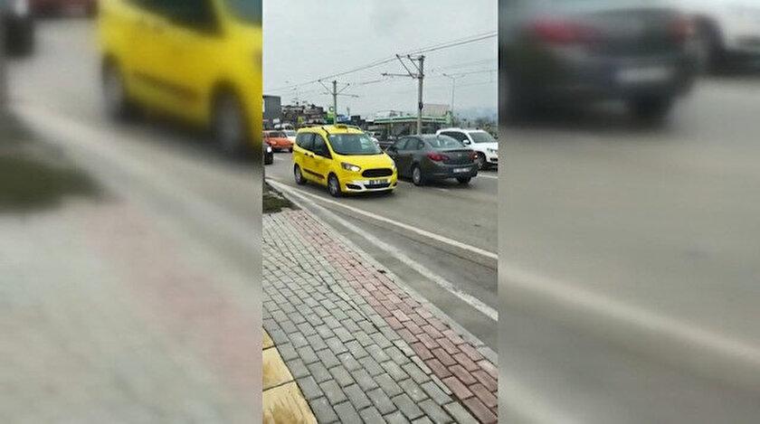 Bursa haberleri... Ters şeride giren şoför trafiği birbirine kattı