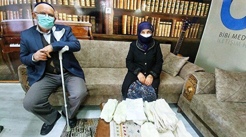 Bu ülkenin Nene Hatunları bitmez: 87 yaşındaki nine ördüğü çorapları Mehmetçiğe hediye etti