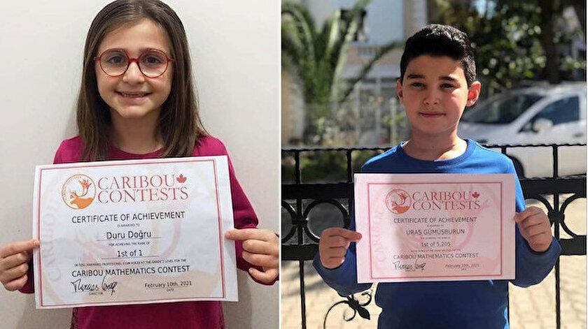 Marmarisli iki öğrenci Uluslararası Caribou Matematik Yarışmasında dünya birincisi oldu